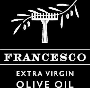 Francesco extra virgin olive oil logo white