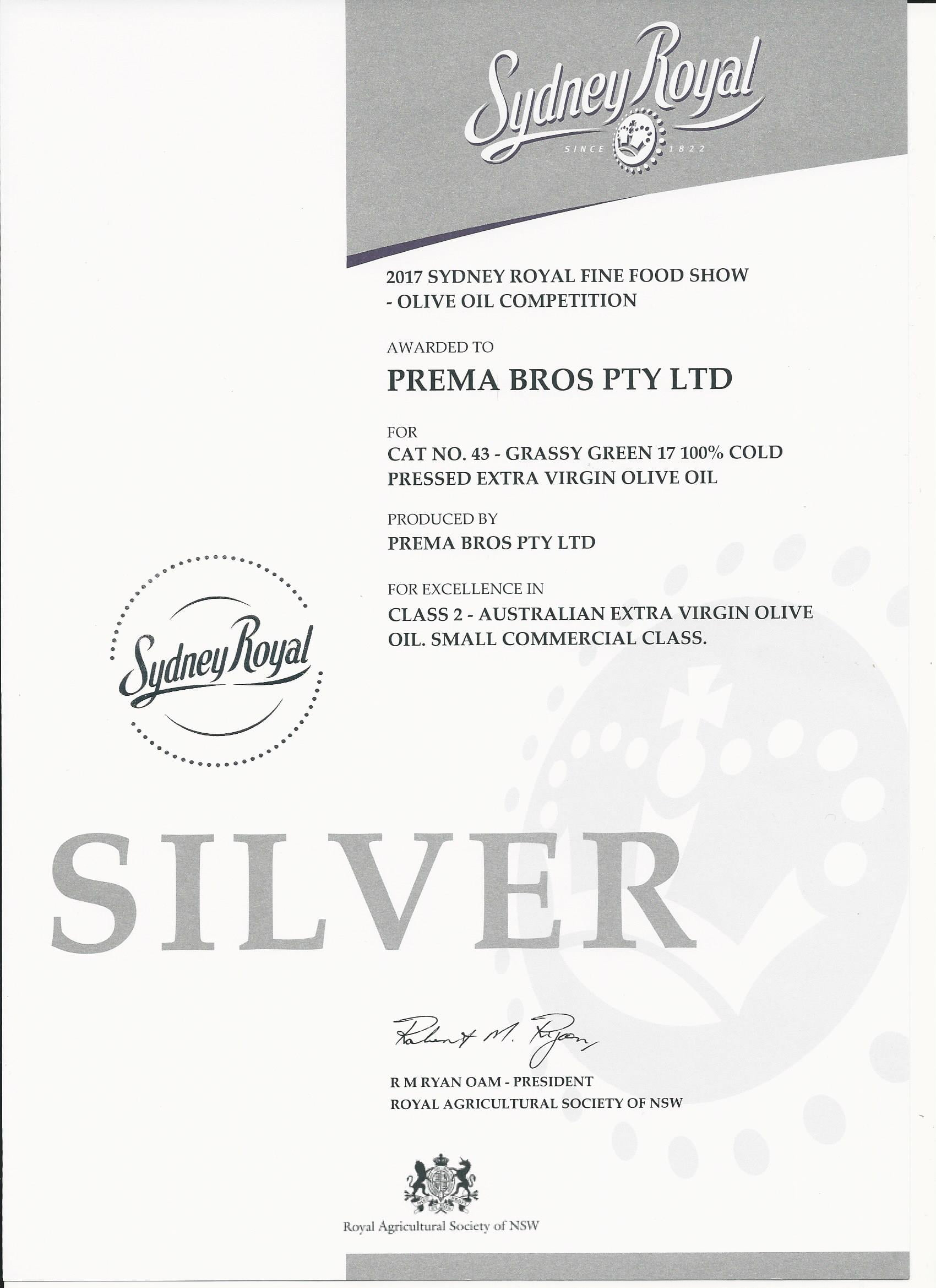Sydney Royal Silver Award