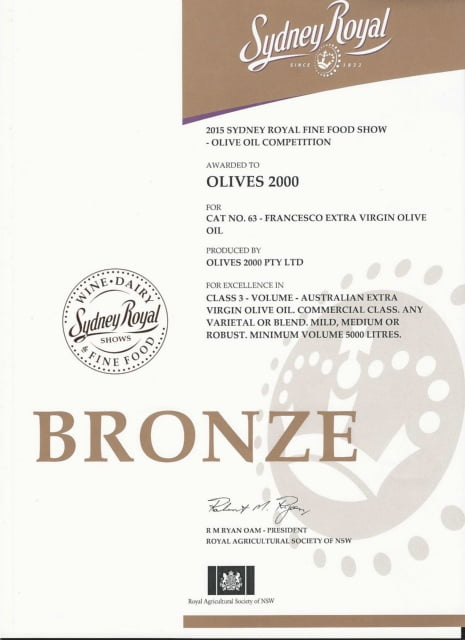 Sydney Royal bronze award